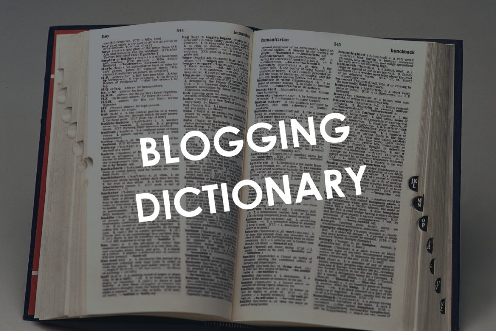 Blogging Dictionary