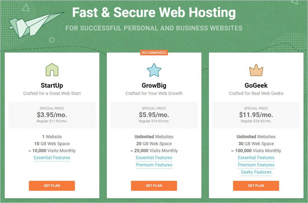 Fast and secure webhosting through SiteGround