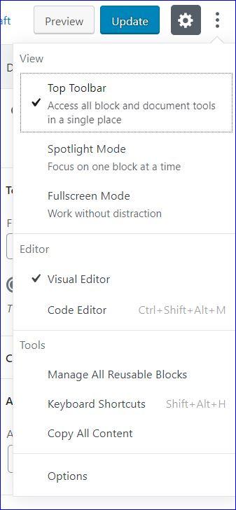 Switching to the Code Editor in WordPress screenshot