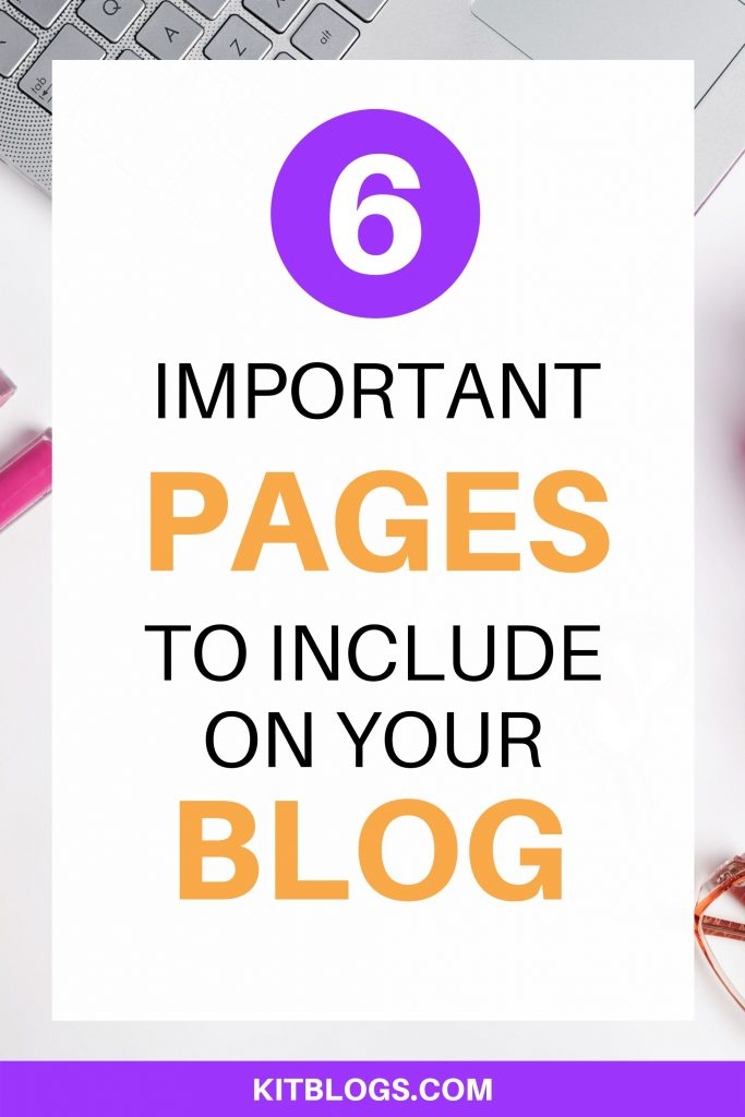 6 important pages to include on your blog
