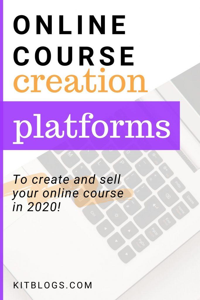 Online course creation platforms Pinterest image