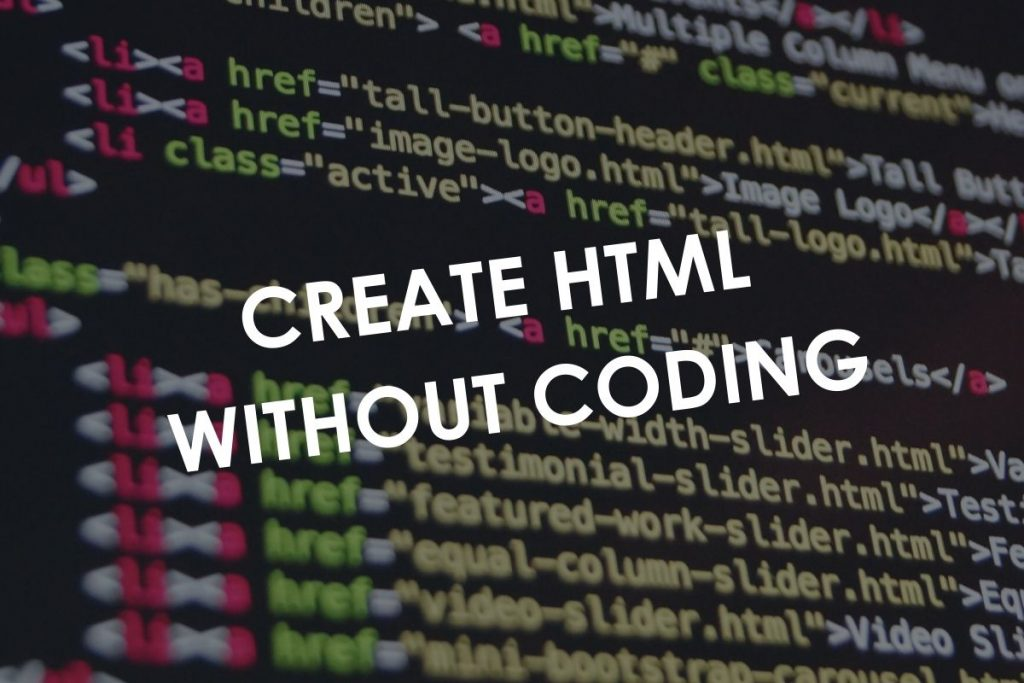 Create HTML without coding in WordPress