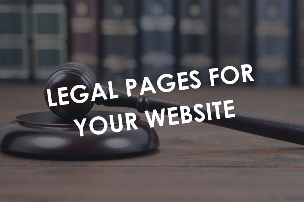 Legal Pages for your Website