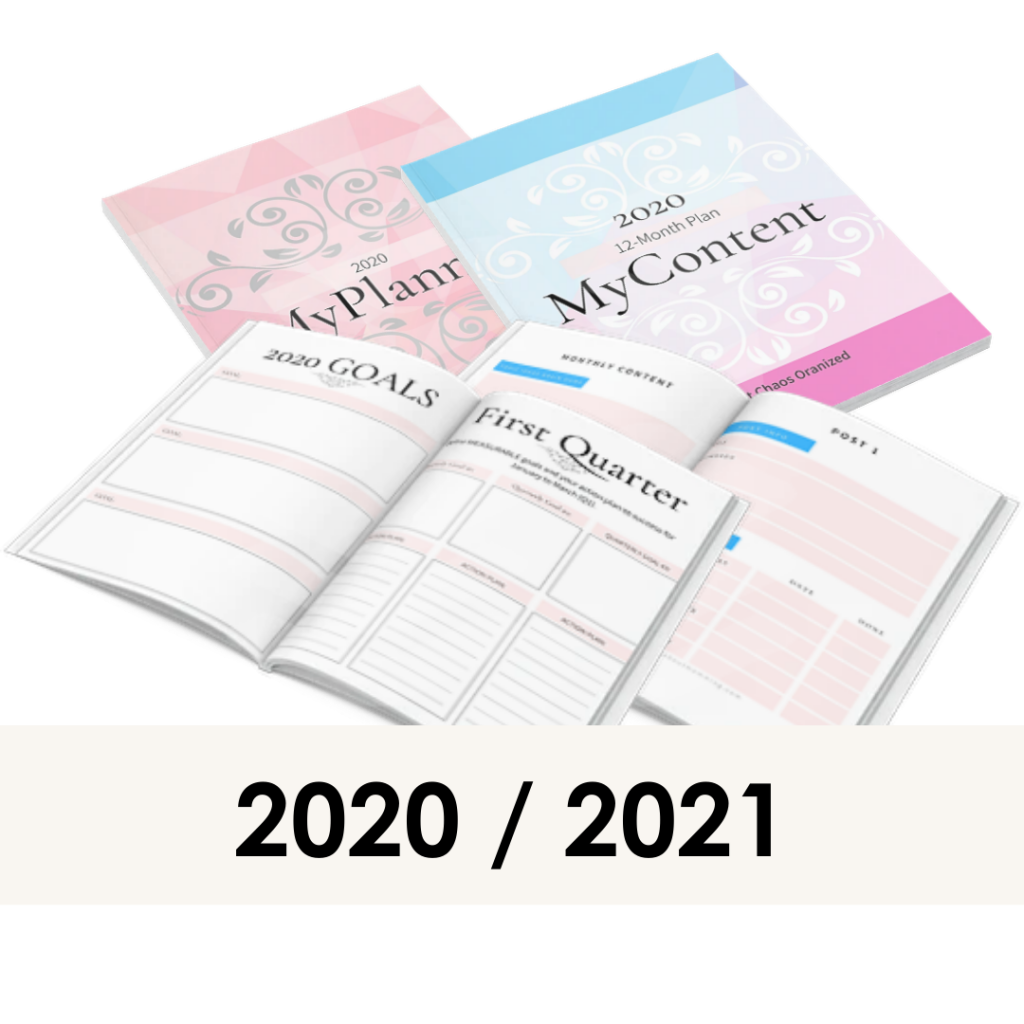 MyPlanner and MyContent planner 2020 / 2021