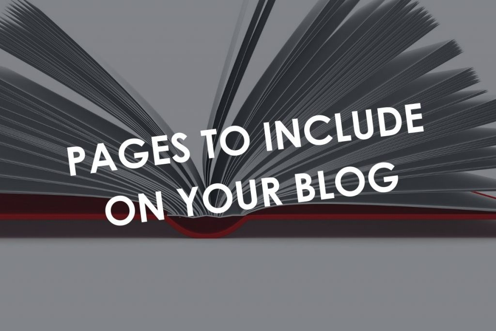 Pages to include on your blog