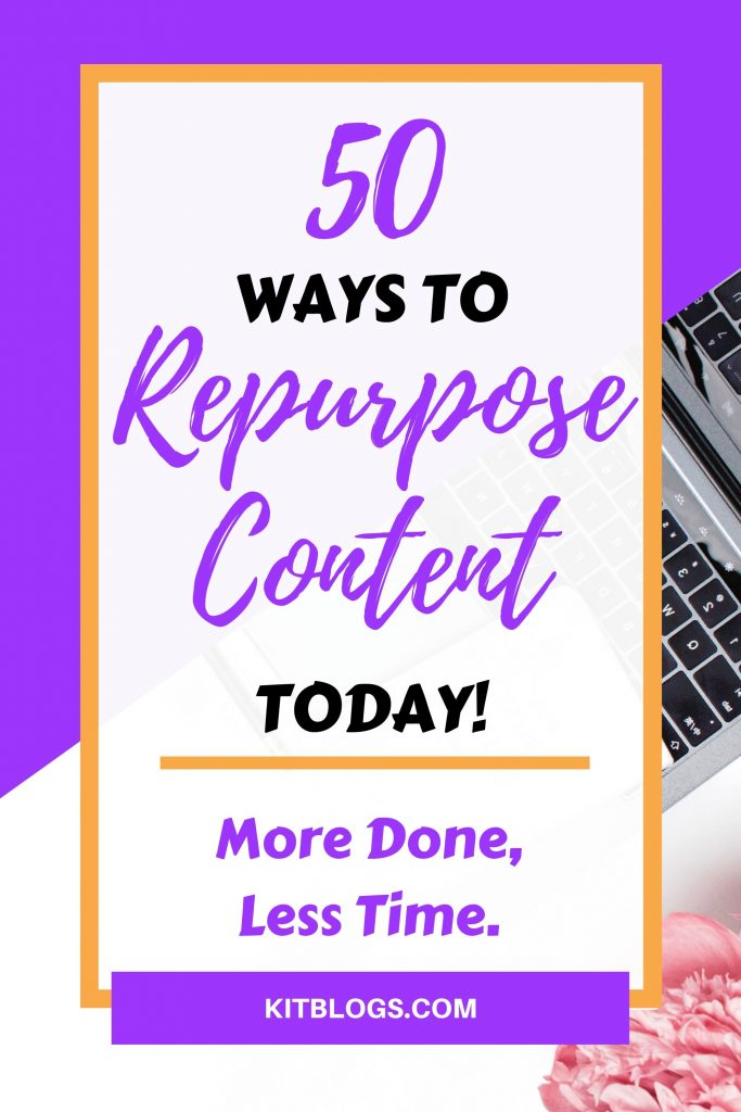 50 ways to repurpose content today