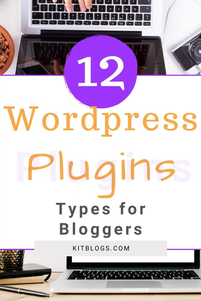12 WordPress Plugins Types for Bloggers Pinterest image