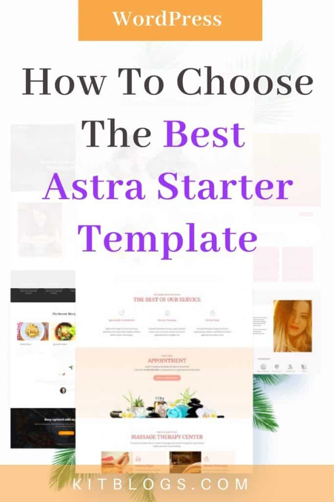 How to choose the best Astra Starter Template